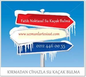 Fatih Noktasal Su Kaçak Bulma SERVİSİ